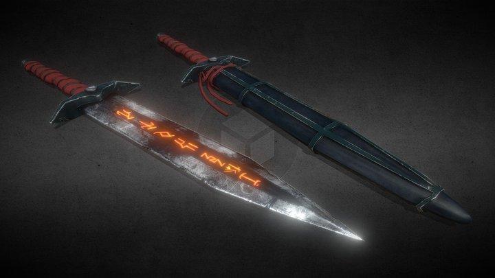 Fantasy Dagger || Sword - LOW POLY 3D Model