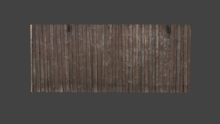 Old wooden wall texture 3D Model