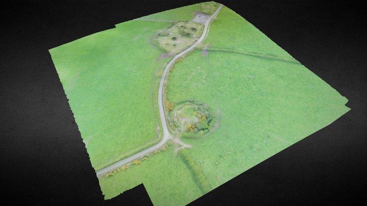 Motte & Ecclesiastical Enclosure Faughart Upper. 3D Model