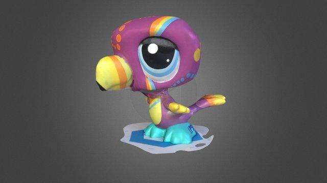LPS Bird in color 3D Model