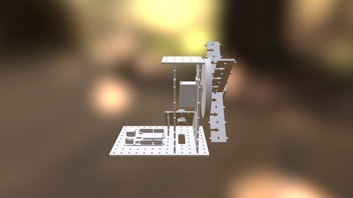 Vista Ensamblado Molino 3D Model