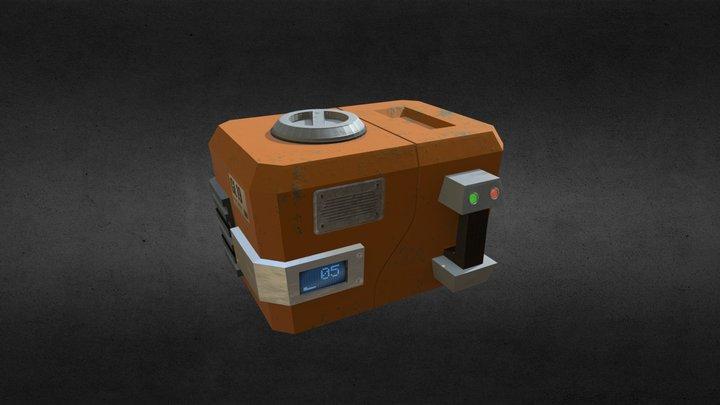 Futuristic chest 3D Model