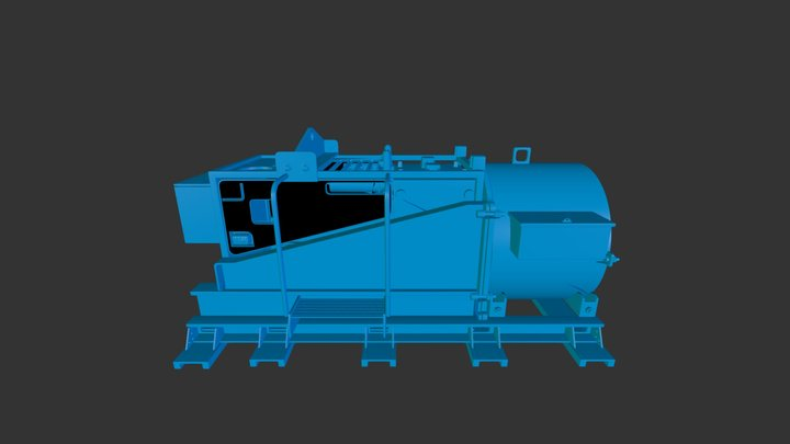 Augering Machine 3D Model