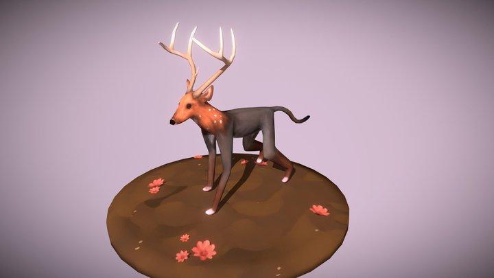 Deer Monkey Hybrid 3D Model