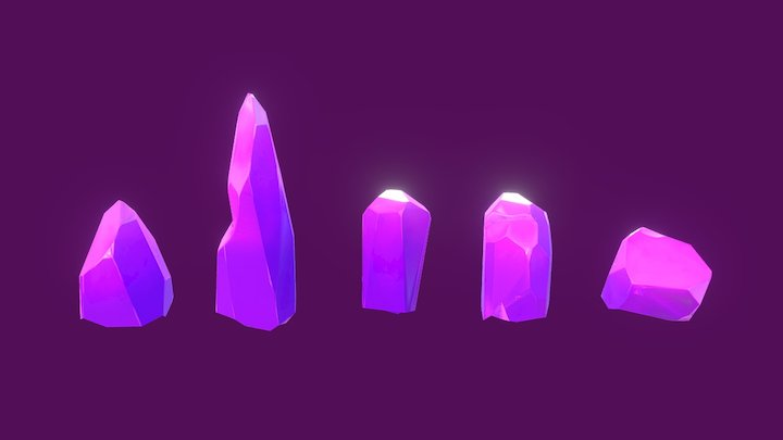 Crystal shards 3D Model