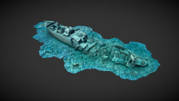 Wreck of the SS Thistlegorm 3D Model