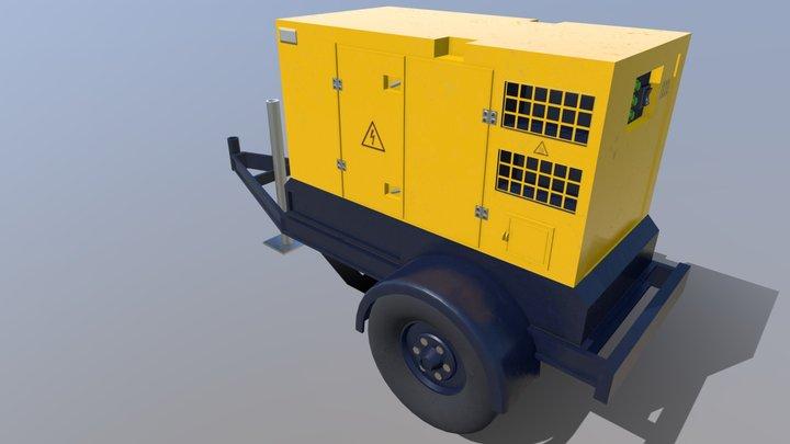 Large Portable Generator 3D Model