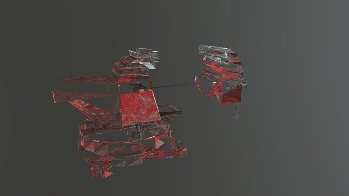 Old Bench Vise 3D Model