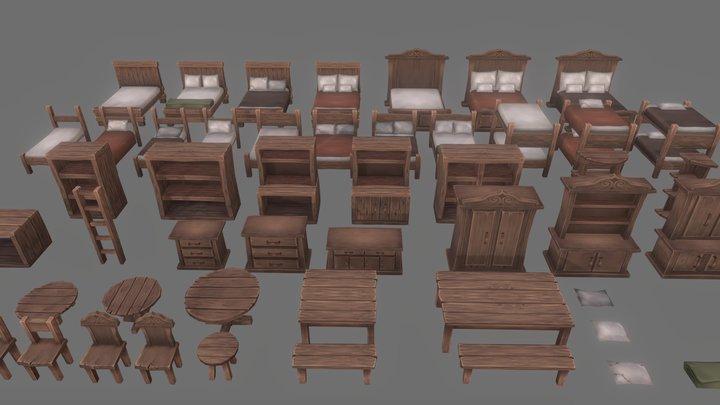 Furniture Pack - 01 3D Model