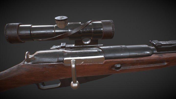Mosin-Nagant Rifle of V. Zaytsev 3D Model