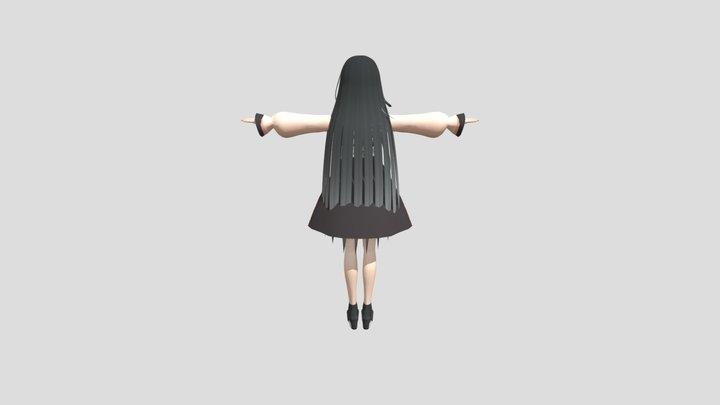 Animegirl 3D Model