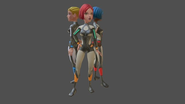 Starbabes 3D Model