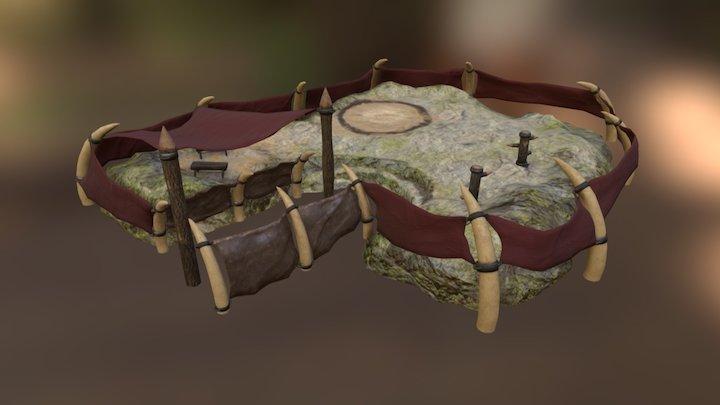 Orcs Settlement - Barracks 3D Model