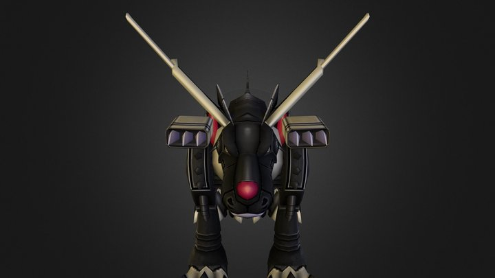 PC Computer-Digimon Masters-BlackMetal Garurumon 3D Model