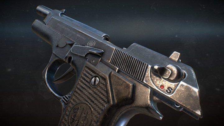 Beretta 92 / VR ready 3D Model