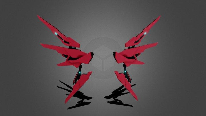 Mechanical Wings 3D Model