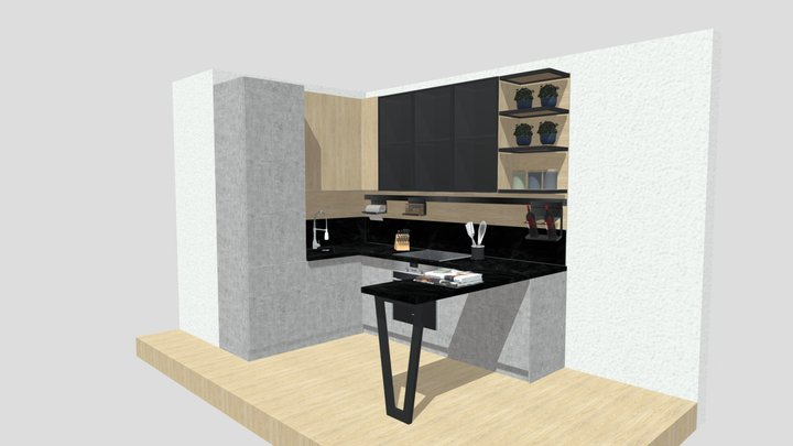 kitchen loft 2 3D Model