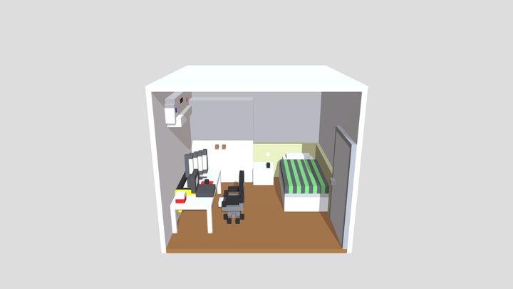 Voxel Simple Room 3D Model
