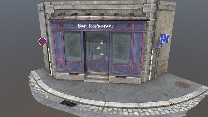 Restaurant Bar Street 3D Model