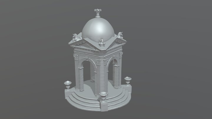 Fulford-By-The-Sea Monument 3D Model