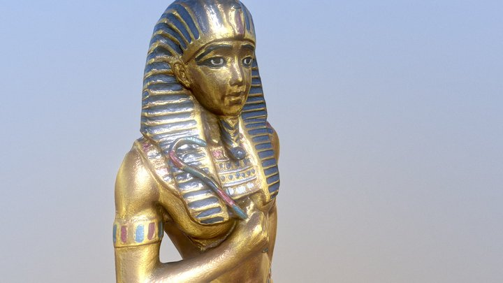 Gold Pharaoh 3D Model