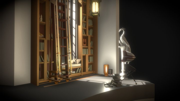 Fireplaсe Room | Draft 3D Model