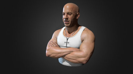 Vin Diesel bust 3D Model