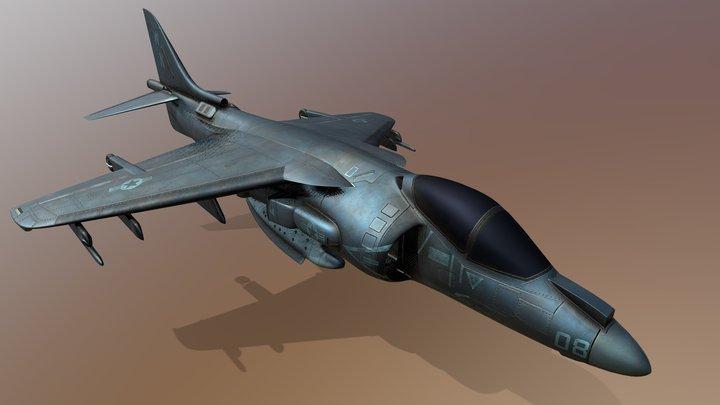 AV-8B Harrier Jet 3D Model