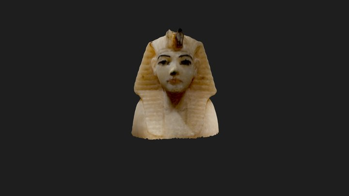 Calcite Stopper Canopic Jar Kings Head Model 1 3D Model