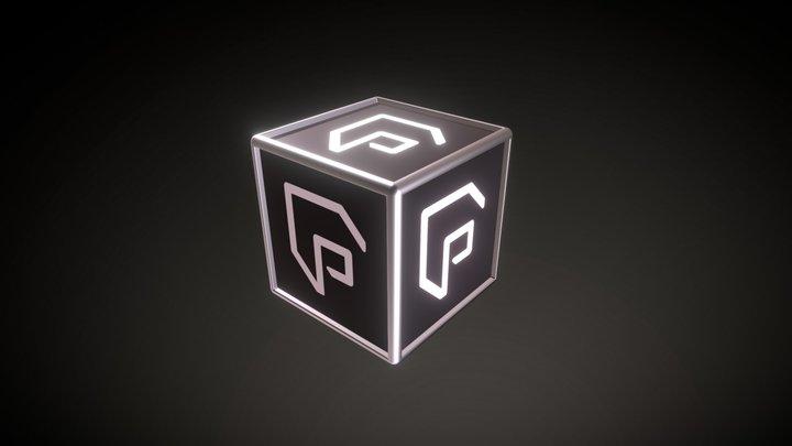 Cube Logo Pixi 01 3D Model