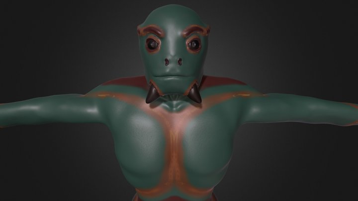 Reptilian Alien 3D Model