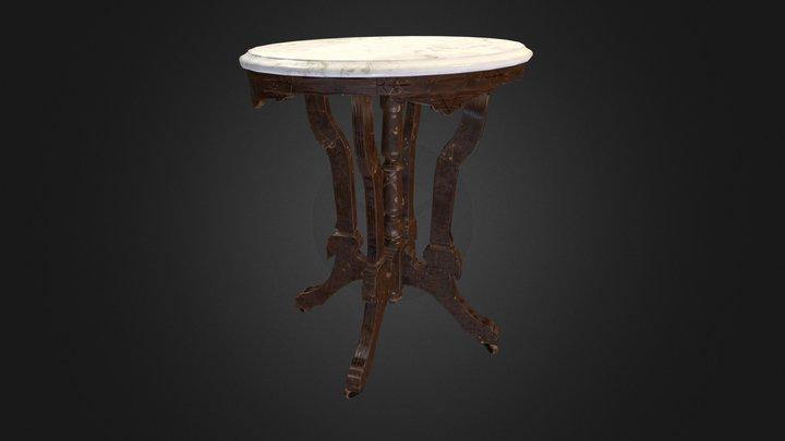 Pedestal Table 003 (Low Poly) V1 3D Model