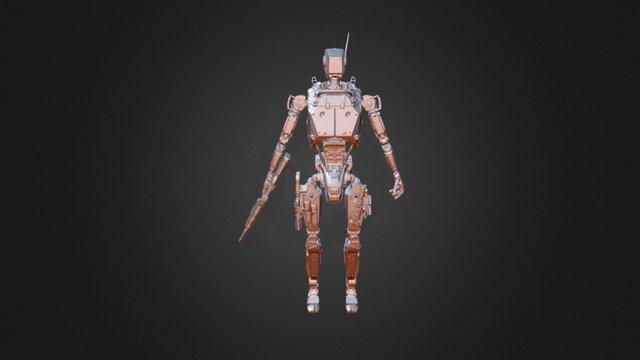 Military robot - Zr Mk 1 3D Model