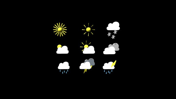 3D icons _Weather 3D Model