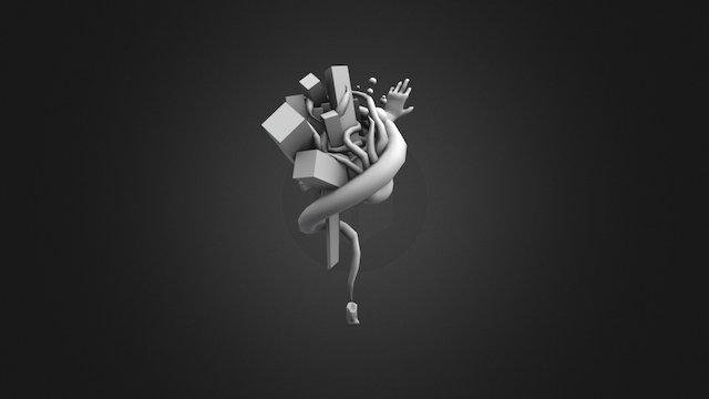 Candle - 3D doodle 3D Model