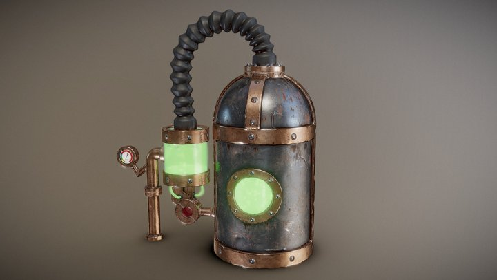 Steam Punk Tank 3D Model