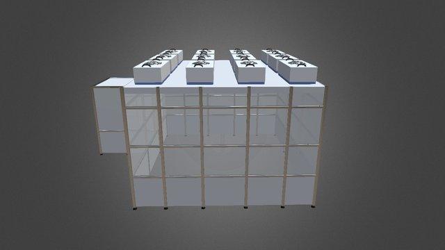 MCRT Reinraum mit Schleuse 3D Model