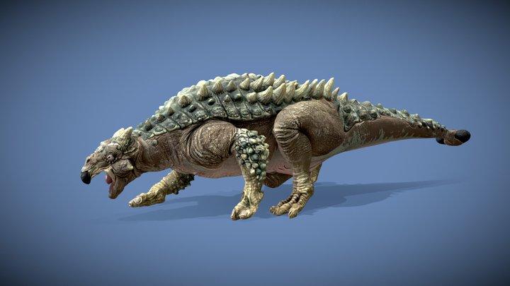 Saichania Dinosaur (Rigged+Animated) 3D Model