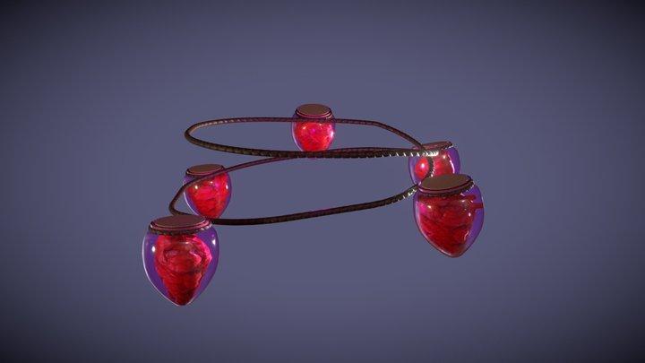 Belt of Hearts 3D Model