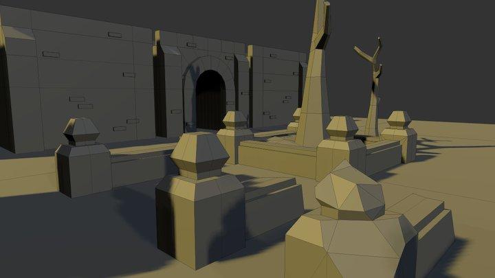 Monastery - Modular assets 3D Model