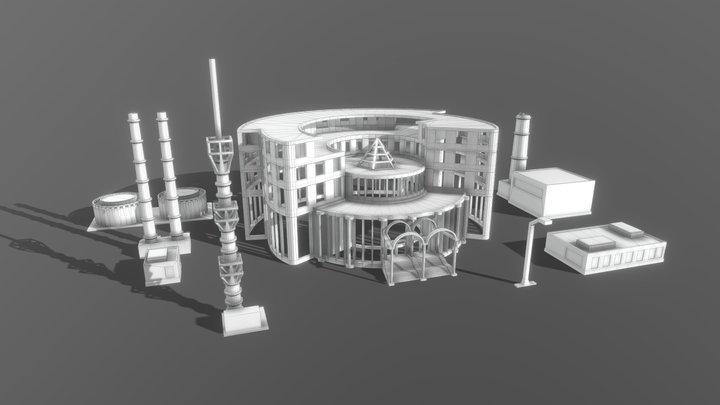 Buildings for 3D printing 3D Model