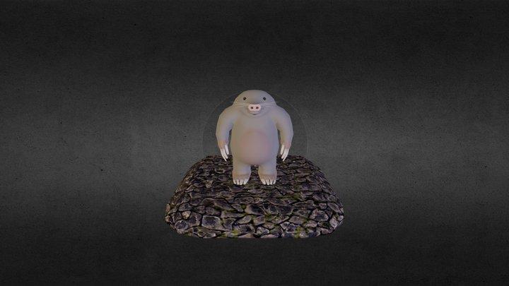 Mole Person 3D Model