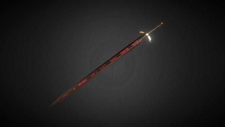 Rune sword 3D Model