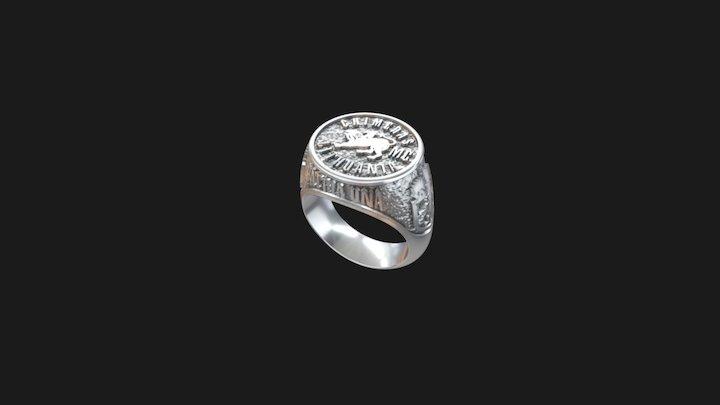 Biker Signed Ring 3D Model