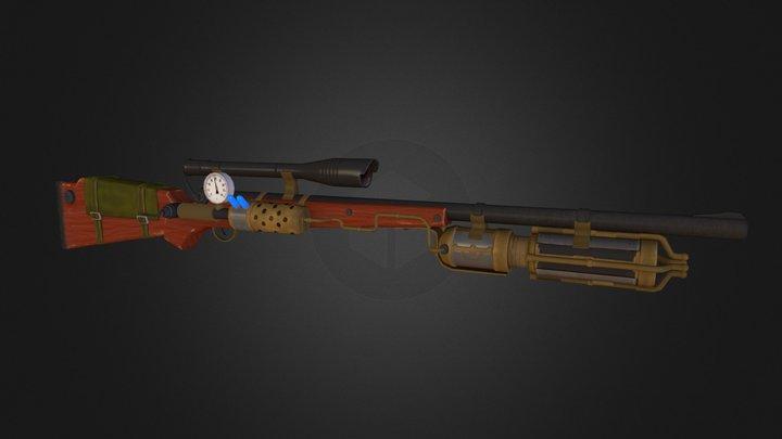 Steampunk Rifle Gun 3D Model