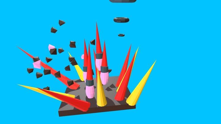 Missile Attack 3D Model