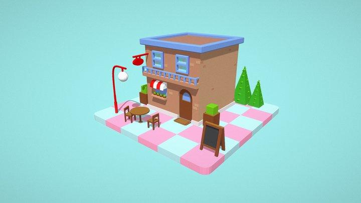 Coffe Shop 3D Model