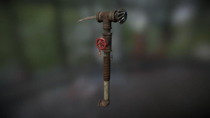Pipe Axe 3D Model