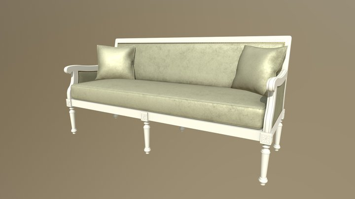Sofa Antuanette 3D Model