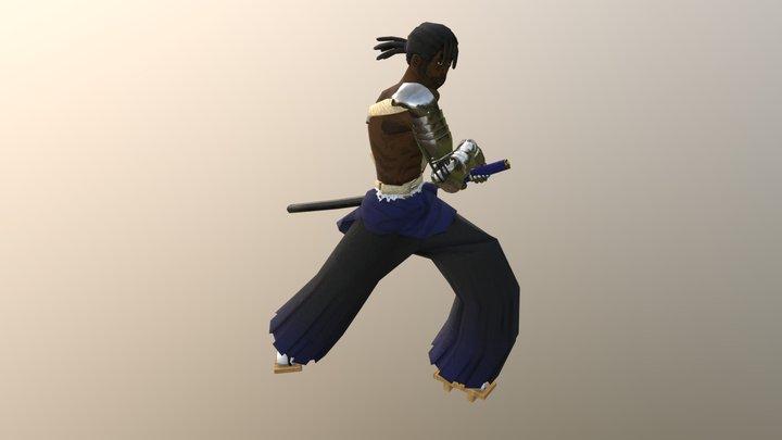 Mysterious Samurai Character 3D Model
